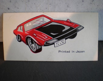 Vintage 1970's Unused Muscle Car Sticker - Made In Japan