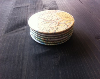 Finland Vintage Map Coasters (Set of 6)