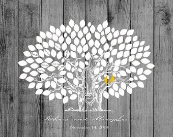 Wedding Guestbook -Wood Wedding tree Rustic Wedding Tree To Be Personalized With Guest's Signatures - 17x22 -Signature Guestbook