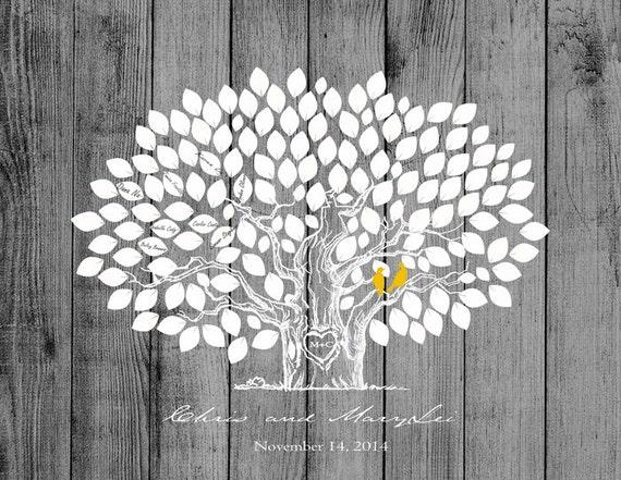 Guestbook Matrimonio Rustico : Matrimonio guestbook di nozze legno albero rustico