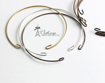 Big Sale-10Pcs Antique bronze / Silver / Raw Brass Wire Bangle Bracelet-(CBS-27)