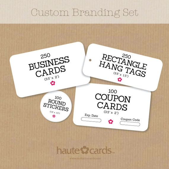 Small custom stationery set business cards stickers by for Business cards and stickers