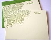 Aloha Mahalo Ulu Breadfruit Hawaii Letterpress Cards