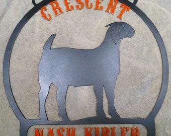 Goat, Sheep, Pig, Steer pen livestock metal show sign. 4H FFA Farm