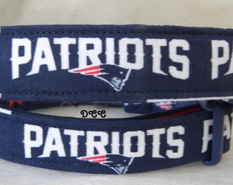 Dog Collar New England Patriots FootBall NFL Sports Adjustable Collars D Ring Handmade  Choose Size Accessories Accessory Pet Pets Sports