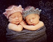 Newborn Baby Boy Twins Photo Prop Crowns
