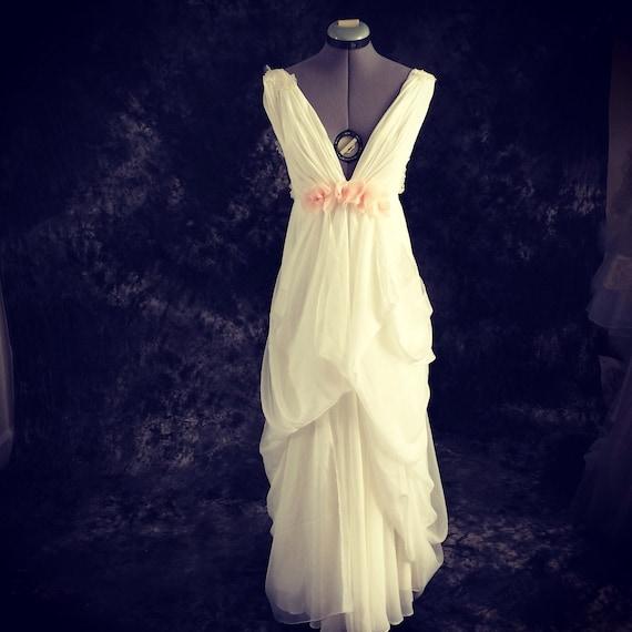 Long beach island wedding dress custom wedding by tingbridal for Island wedding dresses