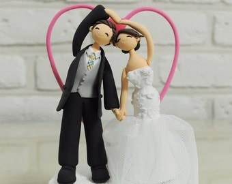 Custom Wedding Cake Topper -Make Heart Together-