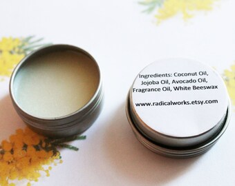 Mimosa Solid Perfume - Scented Natural Perfume - Cologne - Perfume Samples - Coconut Oil - Avocado Oil - Beeswax