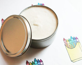Crayon Whipped Body Butter - Scented Vegan Whipped Shea Butter - Natural Body Butter - Whipped Lotion - Tin Jars - Mothers Day