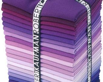 Kona Cotton Solid, Fields of Iris palette - FQ bundle, 22 pieces - Robert Kaufman