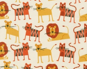 Lions and Tigers in Bermuda (AED-15059-237) - JUNGLE PARTY by Edward Miller - Robert Kaufman Fabric - By the Yard