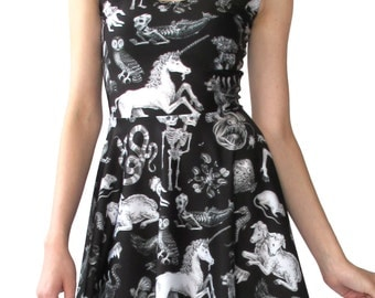 Freak of Nature Print Dress in Black