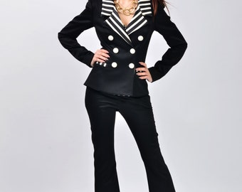 Magda suit with flared trousers