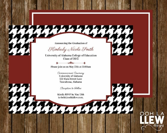 University of Alabama Crimson and Houndstooth by OohLaLlew on Etsy