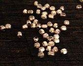 Small Gold Beads - 20 Teeny Tiny 2mm Faceted Round Beads in 14kt Gold Filled -  Seed Beads - Cubed Rounds MB110a