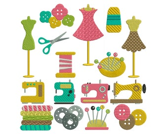 SEWING 1 - Machine Filled Embroidery - Instant Digital Download
