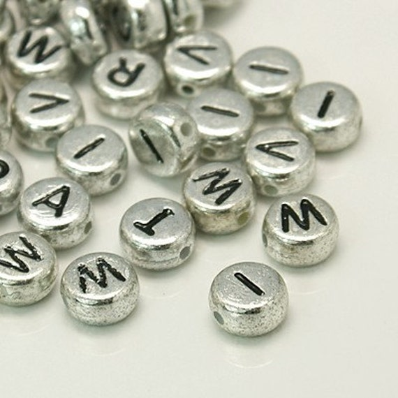 letter beads alphabet beads silver letter beads silver With letter beads wholesale