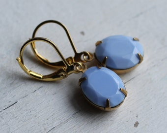 Cornflower Blue Earrings ... Powder Pastel Blue Earrings in Robin Egg