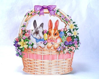 """Moving Musical Decoration Plays """"In My Easter Bonnet"""" Vintage 80's"""