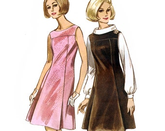 Butterick 4109 Vintage 60s Misses' Jumper and Blouse Sewing Pattern - Uncut - Size 14 - Bust 34