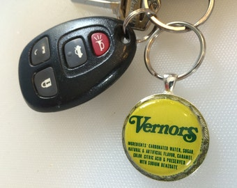 Vernors upcycled Keychain, ginger ale, detroit, vintage, recycled, upcycled, michigan