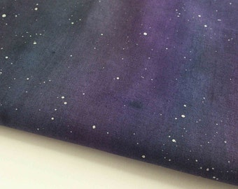 Art quilt kit bull rushes by quiltroutes on etsy for Night sky material
