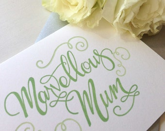 Mothers Day Card Happy Mothers Day Card Letterpress
