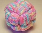 Pastel Hand Knit Braided Ball Toy, Soft Baby Rattle Toy, Stress Ball, Juggling Ball