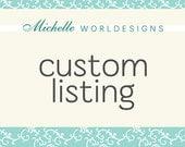 Custom Listing for Adam - Newborn Baby Scrapbook - Children's Book - Baby Blue, Grey and White