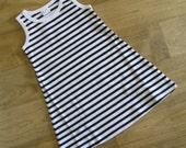Black and White Knit Tank Dress Size 5T