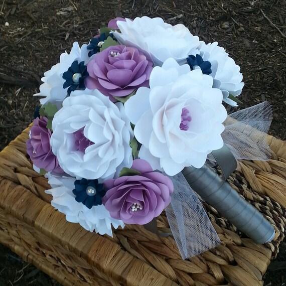 Paper Bouquet Paper Flower Bouquet Wedding Bouquet White