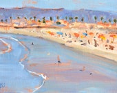 Ocean Beach from the Pier, Landscape Painting