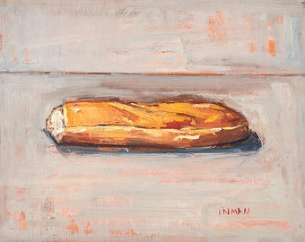 Baguette - Still Life Painting of French Bread