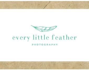Custom Logo Design - PreDesigned Logo - PreMade Logo - Vector Logo - OOAK Logo - Every Little Feather Logo Design - Feather Logo - Bird Logo