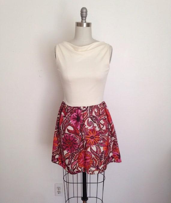 Ooak upcycled cowl mini dress