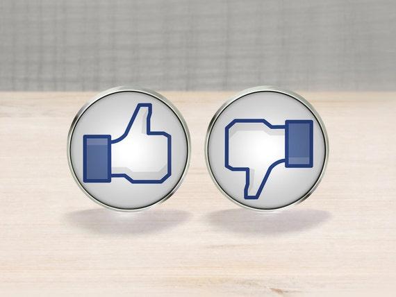 Facebook Like Dislike Cufflinks
