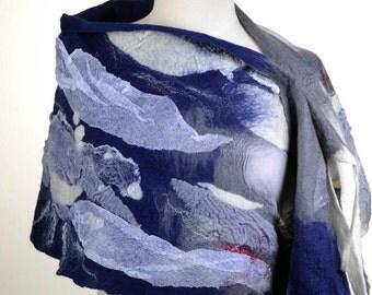 OOAK Felted scarf