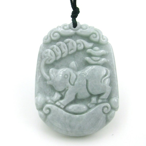 Chinese Zodiac Animals Natural Jadeite Gem Amulet Pendant (Pig) 42mm*31mm  Cy132