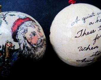 Christmas Ornaments, Holiday Ornaments, Vintage Ornaments, Christmas Balls, Tree Ornaments, Tree Decorations, Santa Ornament, Christmas