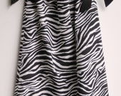 Black and White Zebra Pillowcase Dress - Made-to-Order With Grosgrain Ribbon Ties - HANDMADE - Other Patterns Available