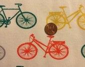 Bike It - Jersey Knit - Commute -  1yard - GOTS Certified Organic