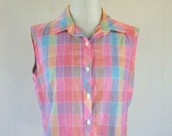 1960s Miss Fashionability Sweet Summer Sleeveless Top