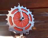 BIKE GEAR - Mini Desktop Clock: ORANGE