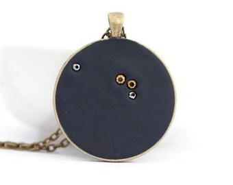 Aries Constellation necklace, aries zodiac jewelry, polymer clay,  astronomy jewelry