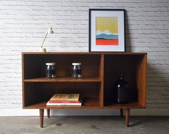 Cordial Credenza / Media cabinet in Cherry - Teak Stain - Mid Century Modern Inspired - IN STOCK!!!