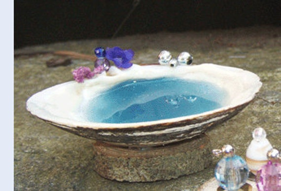 Fairy Garden SHELL BATH Tub Dollhouse Miniature Terrarium