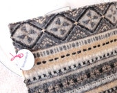 Pot Holders Hot Pads GRAY & TAN Sweater Wool Pot Holders Eco-Friendly Recycled Wool Hotpads by WormeWoole