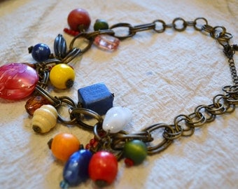 Necklace Vintage Shabby Paris Chic 1980s Boho Gypsters