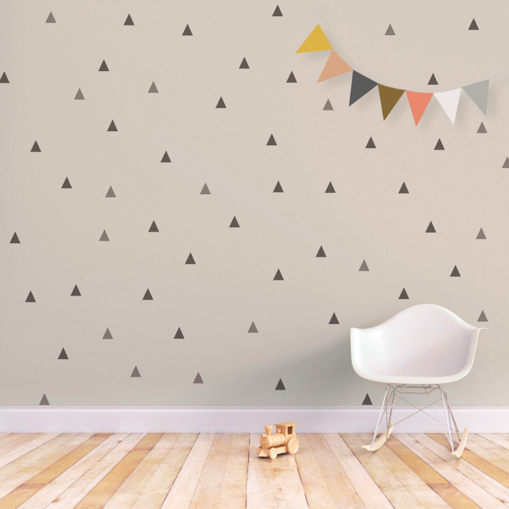 Triangle wall decal baby wall decal removable stickers kids for Stickers de pared
